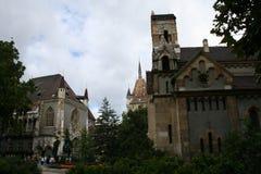κάστρο μέσα στο vajdahunjad στοκ εικόνα