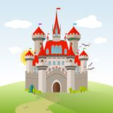 Κάστρο παραμυθιού Διανυσματική απεικόνιση παιδιών φαντασίας ελεύθερη απεικόνιση δικαιώματος