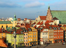 κάστρο Πολωνία τετραγωνική Βαρσοβία Στοκ Εικόνες