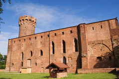 κάστρο Πολωνία swiecie τευτον&iot Στοκ Εικόνες