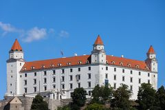 κάστρο Σλοβακία της Βρατισλάβα Στοκ Φωτογραφία