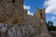 Κάστρο σταυροφόρων στην Ιορδανία μια νεφελώδη ημέρα Στοκ φωτογραφία με δικαίωμα ελεύθερης χρήσης