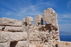 Κάστρο σταυροφόρων, Halki Στοκ εικόνα με δικαίωμα ελεύθερης χρήσης