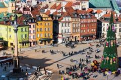 κάστρο τετραγωνική Βαρσ&omicr Στοκ εικόνες με δικαίωμα ελεύθερης χρήσης