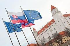 κάστρο της Βρατισλάβα ευρωπαϊκά Στοκ Εικόνα