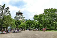 Κάστρο της Ιαπωνίας Οζάκα Στοκ εικόνες με δικαίωμα ελεύθερης χρήσης