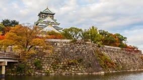 Κάστρο της Οζάκα το φθινόπωρο Στοκ φωτογραφίες με δικαίωμα ελεύθερης χρήσης