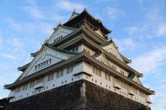 Κάστρο της Οζάκα στοκ φωτογραφίες