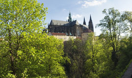 Κάστρο της Πράγας από τη βόρεια δευτερεύουσα, Τσεχία Στοκ Φωτογραφίες