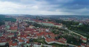 Κάστρο της Πράγας, εναέρια άποψη, Πράγα απόθεμα βίντεο