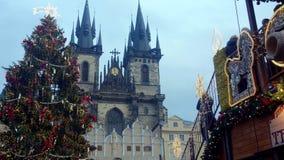 Κάστρο της Πράγας στα Χριστούγεννα Στοκ Φωτογραφίες