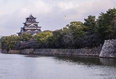Κάστρο της Χιροσίμα Στοκ Φωτογραφίες