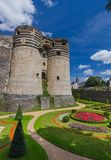 Κάστρο της Angers στην κοιλάδα της Loire - Γαλλία Στοκ φωτογραφίες με δικαίωμα ελεύθερης χρήσης