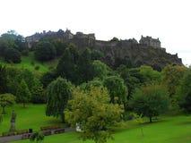 Κάστρο του Εδιμβούργου από την οδό πριγκήπων Στοκ Εικόνες