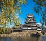 Κάστρο του Ματσουμότο, εθνικός θησαυρός της Ιαπωνίας Στοκ Φωτογραφίες