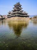 Κάστρο του Ματσουμότο με το άνθος sakura, Ματσουμότο, Ιαπωνία 2 Στοκ εικόνα με δικαίωμα ελεύθερης χρήσης