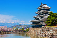 Κάστρο του Ματσουμότο στοκ φωτογραφίες