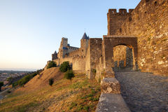 κάστρο του Carcassonne Στοκ εικόνες με δικαίωμα ελεύθερης χρήσης