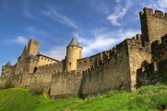 κάστρο του Carcassonne Στοκ Εικόνες