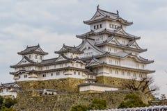 Κάστρο του Himeji το χειμώνα Στοκ Φωτογραφίες