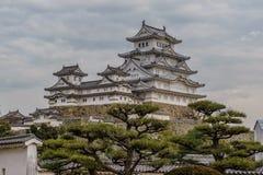 Κάστρο του Himeji το χειμώνα Στοκ Εικόνες