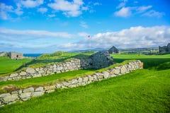Κάστρο φλούδας εσωτερικών καθεδρικών ναών Αγίου Πάτρικ στην πόλη φλούδας στο Isle of Man Στοκ εικόνες με δικαίωμα ελεύθερης χρήσης