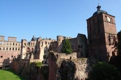 κάστρο Χαϋδελβέργη στοκ εικόνες