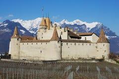 Κάστρο Aigle στοκ εικόνες