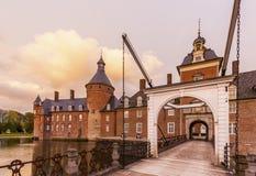 Κάστρο Anholt με drawbridge του Στοκ φωτογραφία με δικαίωμα ελεύθερης χρήσης
