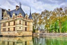 Κάστρο azay-LE-Rideau στην κοιλάδα της Loire, Γαλλία Στοκ εικόνα με δικαίωμα ελεύθερης χρήσης