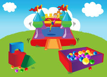 κάστρο bouncy διανυσματική απεικόνιση