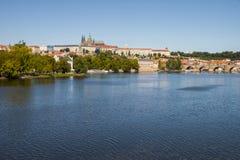κάστρο Charles Πράγα γεφυρών Στοκ Φωτογραφία