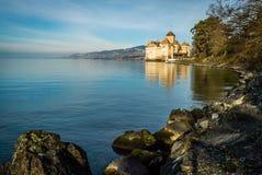 Κάστρο Chillon στην αυγή Στοκ εικόνες με δικαίωμα ελεύθερης χρήσης