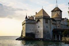 κάστρο chillon montreux Ελβετία Στοκ εικόνα με δικαίωμα ελεύθερης χρήσης