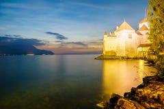 κάστρο chillon montreux Ελβετία Στοκ Εικόνα