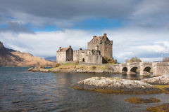 κάστρο donan eilean Σκωτία Στοκ Εικόνες