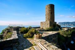 Κάστρο Doria σε Vernazza Ιταλία Στοκ εικόνα με δικαίωμα ελεύθερης χρήσης