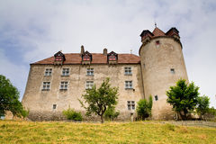 κάστρο fribourg gruyeres Ελβετία καντ&omicron Στοκ Φωτογραφία