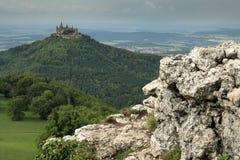 Κάστρο Hohenzollern κοντά σε Hechingen στη Γερμανία Στοκ φωτογραφία με δικαίωμα ελεύθερης χρήσης
