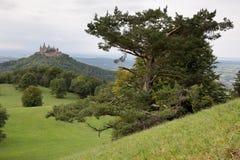 Κάστρο Hohenzollern κοντά σε Hechingen στη Γερμανία Στοκ Φωτογραφία