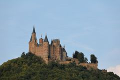 Κάστρο Hohenzollern κοντά σε Hechingen στη Γερμανία Στοκ εικόνες με δικαίωμα ελεύθερης χρήσης