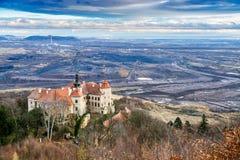 Κάστρο Jezeri, κοίλωμα CSA, βόρεια Βοημία, Τσεχία στοκ εικόνα με δικαίωμα ελεύθερης χρήσης