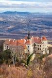 Κάστρο Jezeri, κοίλωμα CSA, βόρεια Βοημία, Τσεχία στοκ φωτογραφία με δικαίωμα ελεύθερης χρήσης
