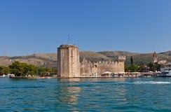 Κάστρο Kamerlengo (1437) Κροατία trogir Περιοχή της ΟΥΝΕΣΚΟ Στοκ Φωτογραφία