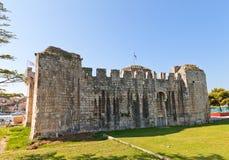 Κάστρο Kamerlengo (1437) Κροατία trogir Περιοχή της ΟΥΝΕΣΚΟ Στοκ Φωτογραφίες