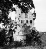 Κάστρο Lichtenstein πίσω από τα δέντρα Στοκ Εικόνες