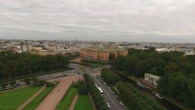 Κάστρο Michaels στην κεραία Άγιος-Πετρούπολη απόθεμα βίντεο