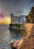 κάστρο miramare Στοκ Εικόνες