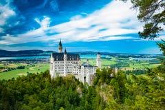 κάστρο neuschwanstein Ένα από τα περισσότερα famos και όμορφο το κάστρο στον κόσμο Στοκ Φωτογραφίες
