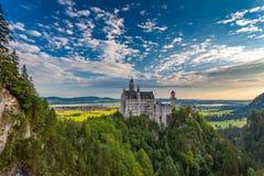 Κάστρο Neuschwanstein ένα πρωί το κάστρο είναι αναδημιουργία στοκ εικόνα